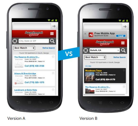 Mobile Site Sponsored Listings A/B Test